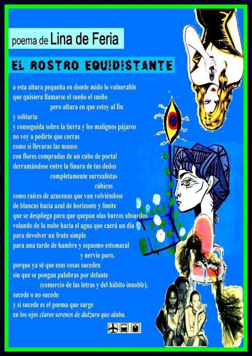 29 EL ROSTRO EQUIDISTANTE... LINA DE FERIA, postal 29